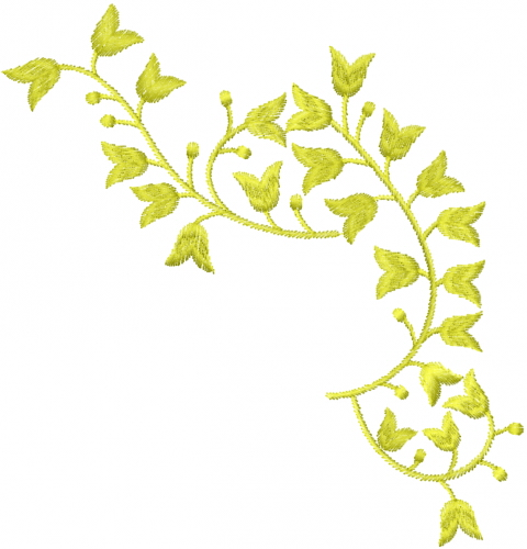Floral vine embroidery designs machine