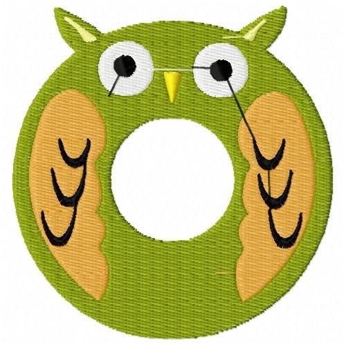 Animal alphabet o embroidery designs machine