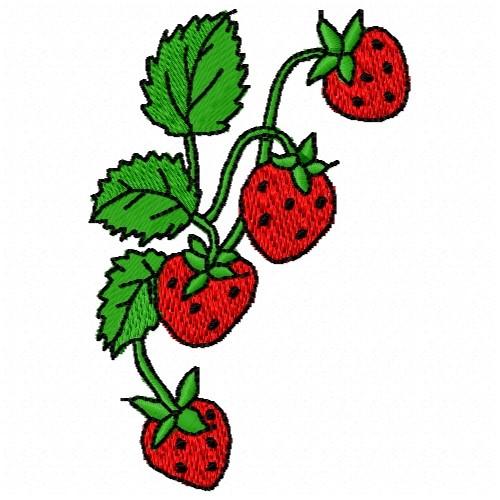 Strawberry vine embroidery designs machine