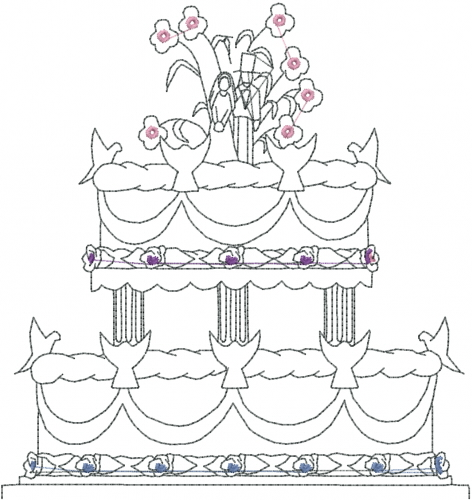 Wedding cake embroidery designs free machine