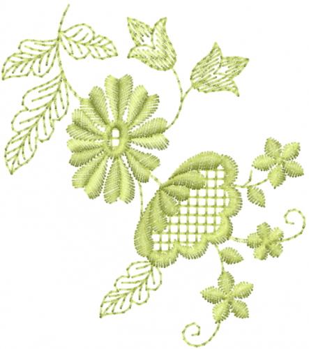 Floral vine outline embroidery designs machine