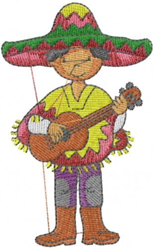 Mexican boy embroidery designs machine