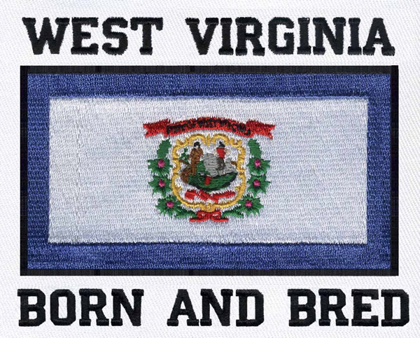designs embroidery design west virginia flag 3 28 inches h x 4 17 inches w