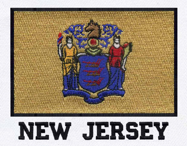 New jersey flag embroidery designs machine