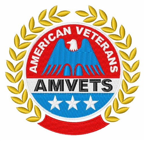 American Veterans Logo Embroidery Designs Machine Embroidery