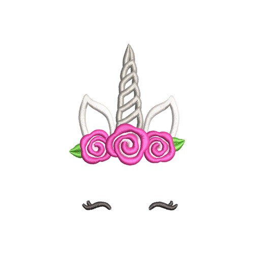 Unicorn Face Applique Embroidery Designs Machine Embroidery Designs