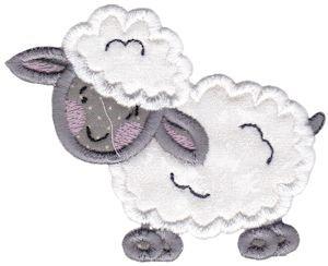 Country animals stix lamb applique embroidery designs machine