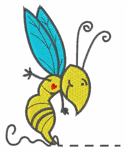 Busy bee embroidery designs machine at