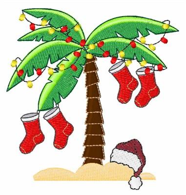 Tropical Christmas.Tropical Christmas Embroidery Design