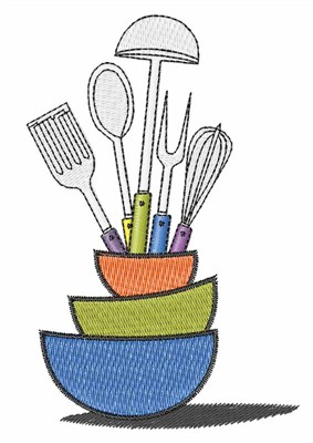 Kitchen Utensils Embroidery Designs, Machine Embroidery Designs at ...