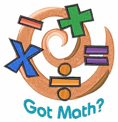 got math embroidery design