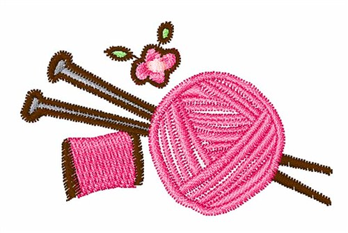 Knitting needles embroidery designs machine
