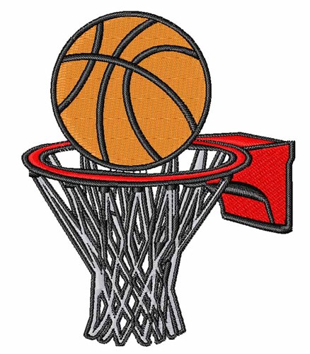 Basketball hoop embroidery designs machine