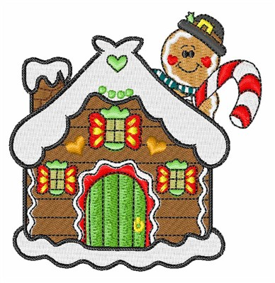Gingerbread House Embroidery Designs Machine Embroidery