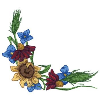 Wildflower Corner Embroidery Designs Machine Embroidery