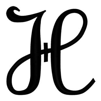 Script Letter H Embroidery Designs Machine At