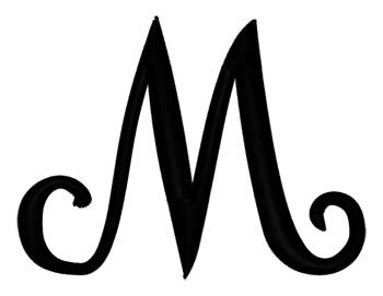 Script Letter M Embroidery Designs, Machine Embroidery Designs at