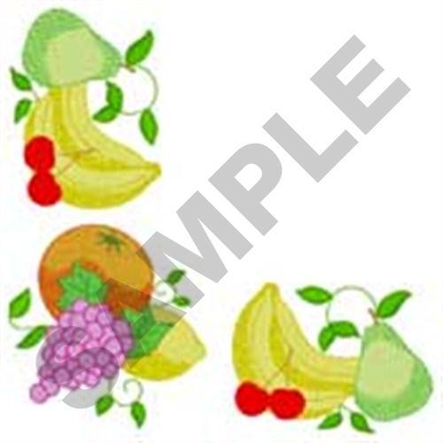 Napkin Fruit Corner Embroidery Designs Machine Embroidery