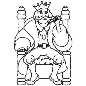 Old king cole outline embroidery designs, machine embroidery Old King Cole Family King Coloring Sheet Old -Fashioned Christmas Coloring Sheets