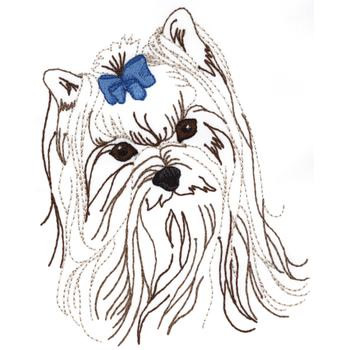 Yorkie Embroidery Designs