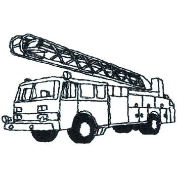 Fire Truck Outline Embroidery Designs Machine At