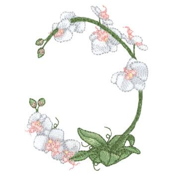 Orchid Frame Embroidery Designs, Machine Embroidery Designs at ...