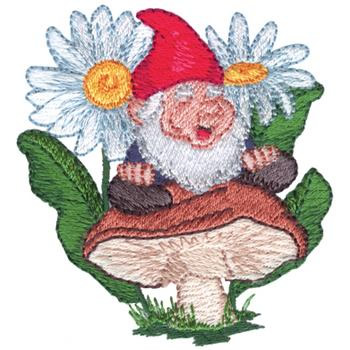Garden gnome embroidery designs machine embroidery for Garden embroidery designs free
