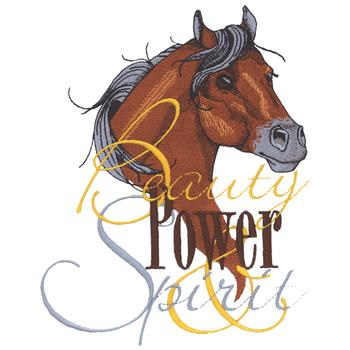 Beauty Power Horse Embroidery Designs Machine