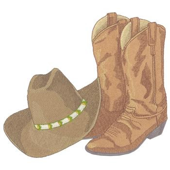 Cowboy Hat   Boots Embroidery Designs 7eb70e82360