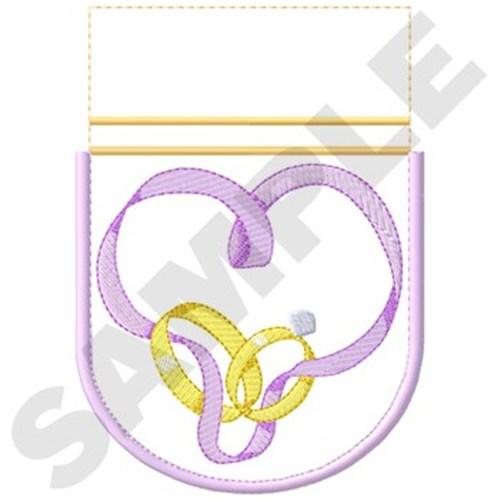 Wedding anniversary gift bag front embroidery designs