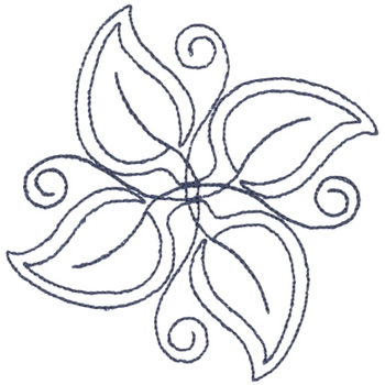 Leaf Pattern Outline Embroidery Designs Machine Embroidery Designs