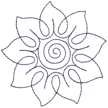 Sunflower Outline Embroidery Designs Machine At