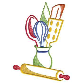 Kitchen Utensils Embroidery Designs Machine Embroidery Designs At
