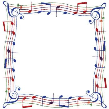 Music Note Border Embroidery Designs, Machine Embroidery ...