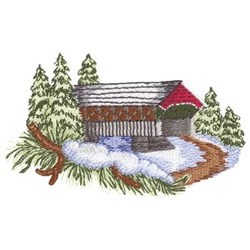 Covered Bridge Embroidery Designs