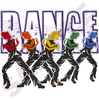 Dance Team Logo Embroidery Designs, - 21.9KB