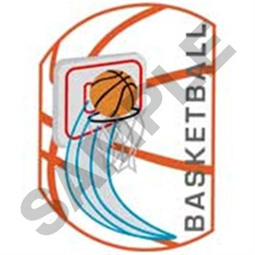 Basketball hoop embroidery design makaroka