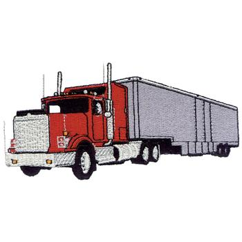 Semi Truck Embroidery Designs