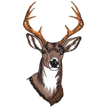 White Tail Deer Head Embroidery Designs Machine
