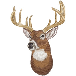 Whitetail Deer Head Embroidery Designs Machine Embroidery
