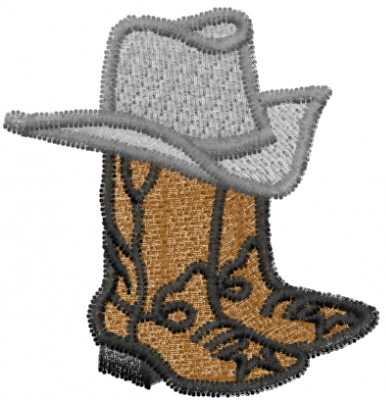 efe64b702ca Boots and Cowboy Hat Embroidery Designs