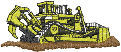 Heavy Equipment Bull Dozer Embroidery Designs Machine Embroidery