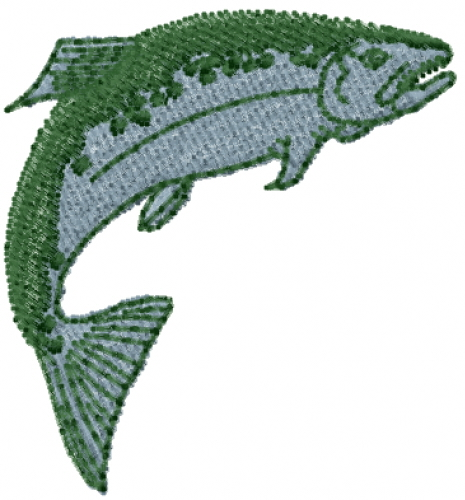 Jumpimg Salmon Embroidery Designs Machine Embroidery Designs At