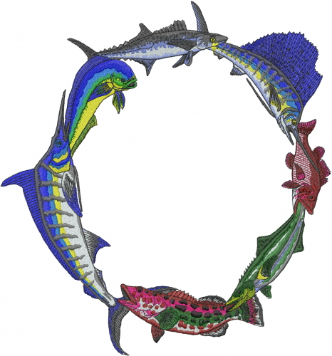 Saltwater Fish Embroidery Designs Machine Embroidery Designs At