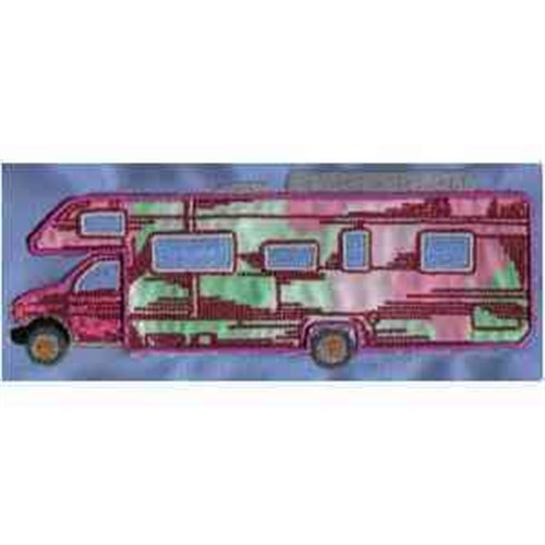 Cool RV There Yet Embroidery Design File HL1031 Camper Vacation