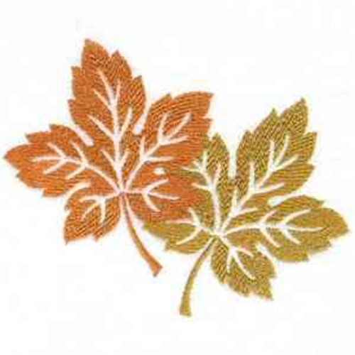 Fall leaves embroidery designs machine