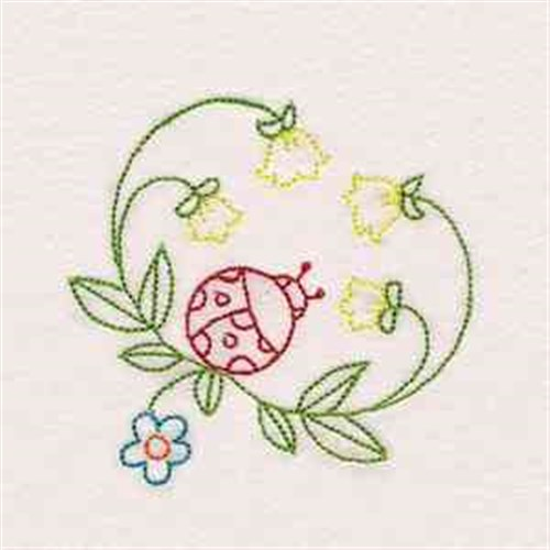 Garden ladybug embroidery designs machine embroidery for Garden embroidery designs free