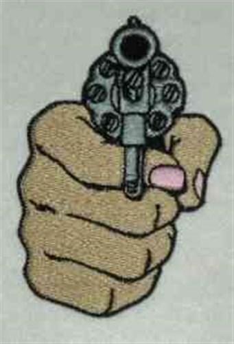 Hand gun embroidery designs machine at