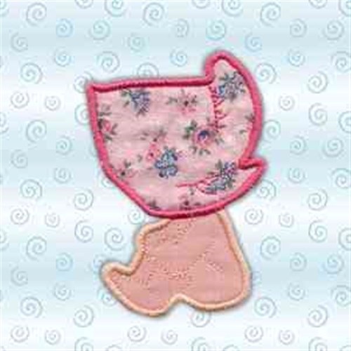 Sunbonnet baby girl embroidery designs machine