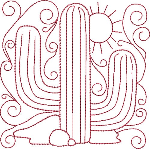 Image result for REDWORK CACTUS PATTERNS